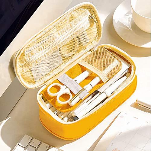 Oyachic Big Capacity Pencil Case Telescopic Pencil Pouch Zipper Pen Bag Canvas Markers Cases Makeup Bag Stationery Box Pencil Holder Office School Supplies