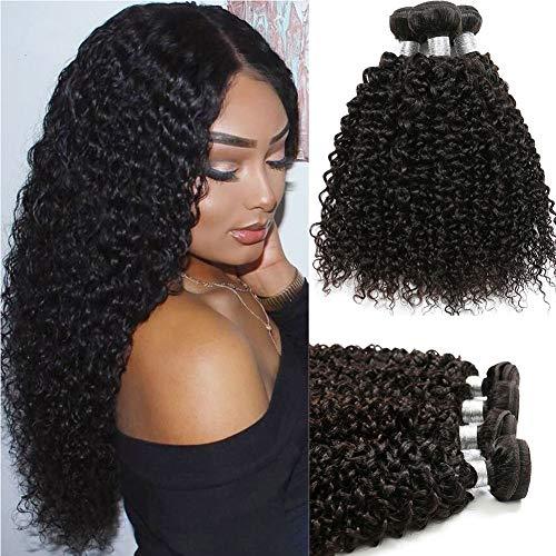 8A Mongolian Kinky Curly Hair 3/4 Bundles Bohemian Curly Mongolian Kinky Curly Virgin Hair Afro Kinky Curly 100% Unprocessed Virgin Human Hair (10 10 10)