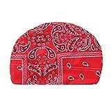 ZJHGQ Turban Head Wrap - Gorro de dormir con capucha para mujer, color rojo