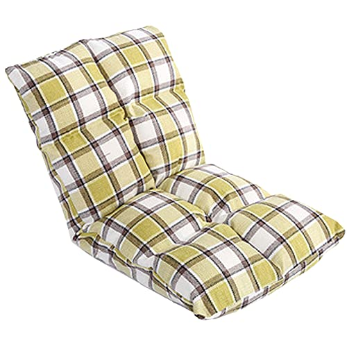 ZYYH Cojines para sillas con Respaldo Alto para Exteriores, tumbonas, Cojines para sillas de Patio, Porche, jardín, Cubierta de césped, Silla de Mimbre Rocke con Pliegue de Cinco Engranajes, resi