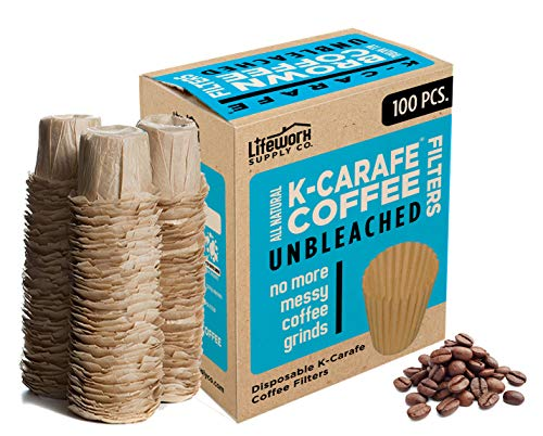 100% Natural Brown Unbleached Disposable Paper Coffee Filters -...
