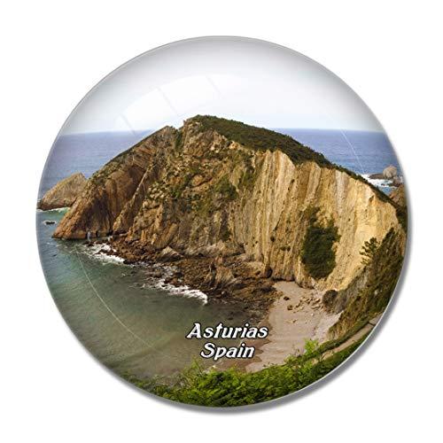 Imán de nevera 3D de Spain Beach Asturias para pizarra blanca de cristal de recuerdo