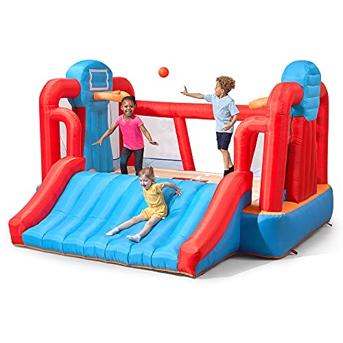 Step2 MAX Sports Full Court Basketball 'n Slide Bouncer with Extra Heavy Duty Blower   Kids...