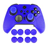 AreMe Soft Anti-Slip Silicone Protective Cover Skins Case with Rubber Thumb Grips Analog Caps for New Xbox One Elite Series 2 Controller (Blue)