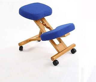 ZCJUX Silla ergonómica para arrodillarse con taburete con ruedas muebles de soporte de postura de oficina de madera sill...