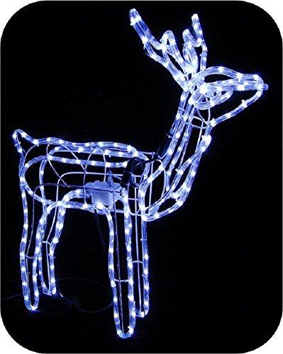 Salone Negozio On-Line Decorazioni Natale Renna LED 3D 90X20X100H con Movimento Bianco Caldo