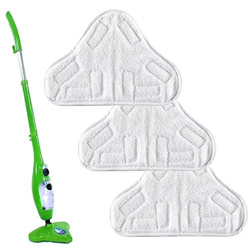 3 Stück Wiederverwendbare Stoffwaschbare Ersatzpads aus Mikrofaser Passend für H2O X5 Steam Mop Home Haushalt Praktische Reinigungswerkzeuge