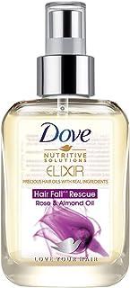 Dove Elixir Hair Fall Rescue Rose and Almond Hair Oil, 90 ml