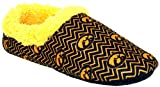 IOW11-3 - Iowa Hawkeyes - Large - Happy Feet Mens and Womens Chevron Slip On Slippers