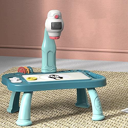 Escritorio de dibujo para niños con proyector juguete educativo con 48 copia patrón desmontable proyección pintura mesa para niño