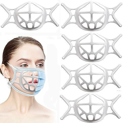Support de visage en silicone 3D, support de protection pour le visage pour un espace respirant plus confortable, support de protection pour rouge à lèvres, garder le tissu hors de la bouche 5 pièces