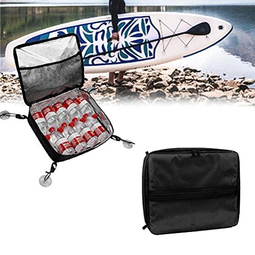 Lybring Bolsa fresca, bolsa de almacenamiento impermeable aislada bolsa de almacenamiento de cubierta fija resistente al agua Oxford bolsa de tabla de surf doble cremallera