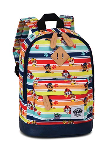 Paw Patrol Kindergartenrucksack – Kinderrucksack mit verstärktem Boden für Jungen und Mädchen von 3-6 Jahren mit Chase, Marshall und Rubble von Paw Patrol – 29cm x 21cm x 13cm bunt