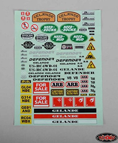 Gelande 2 G II Land Rover D90 Body Sticker Decal Set Stripes dash Z-B0038 RC4WD