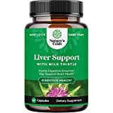 Milk Thistle Liver Support Supplement - Herbal Liver Supplement with Silymarin Milk Thistle Extract Dandelion Root Artichoke Extract Choline Bitartrate Berberine and Chicory Root for Liver Cleanse