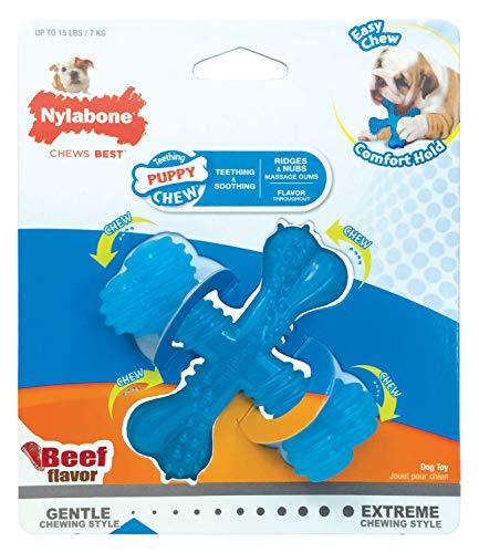 Nylabone Puppy Chew X Bone Beef Chew Toy