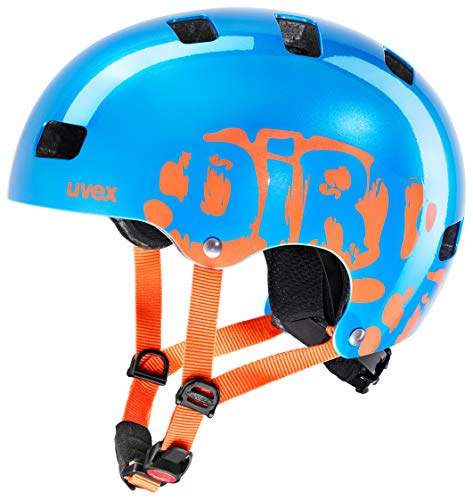 Uvex Kid 3 Dirtbike Blue-orange Kinder Fahrradhelm (51-55)