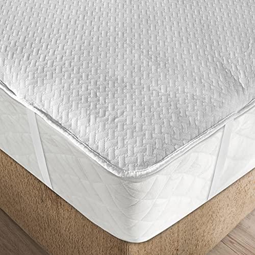 Funda para Colchón, Respirable Cobertor con Tiras Elastizadas, 160 cm x 200 cm