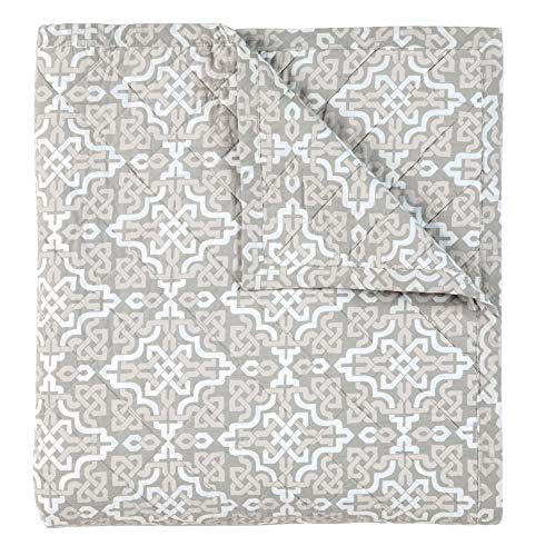 Read About Company C Lennox Percale Quilt - Pewter - King