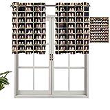 Hiiiman Colección de zapatos de bolos con ojales de alta calidad, impresión de estilo vintage, juego de 1, paneles opacos decorativos para el hogar de 127 x 45 cm para dormitorio