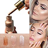 MEIQING Liquid Highlighter Make Up Cream Concealer Shimmer Face Eye Glow Glitter Brighten Shimmer Highlighters Ultra-concentrated illuminating bronzing drops (Original)