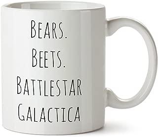 Bears.Beets.Battlestar Galactica Porcelain Coffee Mug - 11oz -