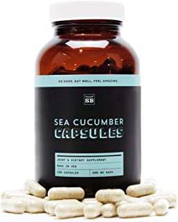SB Organics Wild-Caught Sea Cucumber Supplement for Immunity Boosting, Joint Relief, and Reproductive Enhancement - 150 Ca...
