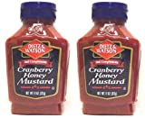 Dietz & Watson, Deli Compliments, Cranberry Honey Mustard, 11oz Bottle (Pack of 2)