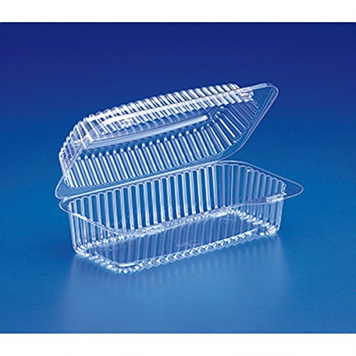 Inline Plastics VPP781 Clear Hinged Lid Containers 8-13/16x4-7/8x3-3/16 (Case of 300)