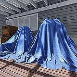 TANG Sunshades Depot Blue 5 Mil 10x12 ' Feet General Multi-Purpose Waterproof Multi Purpose Waterproof Poly Tarp Cover Tent Shelter Boat RV Pool Camping Tarpaulin