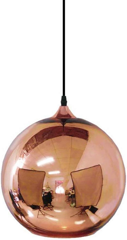 H.L Restaurant pendentif Luminaire De Plafond en Verre éclairage LED Lustre Simple Moderne pour Restaurant Bar Creative Bar - Bronze Or