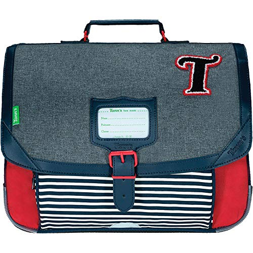 Cartable 38 Tann's Les Chinés Teddy Gris / Rouge