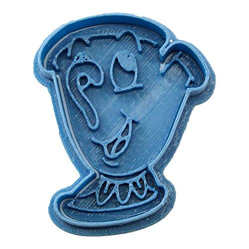 Cuticuter Chip Bella Y Bestia Cortador de Galletas, Azul, 8x7x1.5 cm