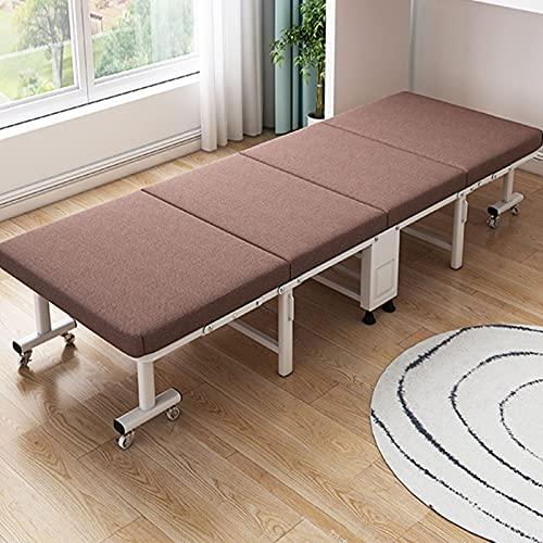 Hushållsfällbar säng Leisuit Utfällbar gästsäng Barnsäng Utfällbar säng - Bärbar hopfällbar sängram med tjockt madrass för minneskum för extra sovrum och kontor