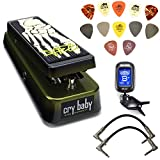 Dunlop KH95 Kirk Hammett Signature Cry Baby Wah Pedal Bundle with 2 Patch Cables, Clip-On Tuner, and Dunlop PVP101 Pick Pack