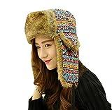 Gorros Unisex Sombrero De Aviador para Hombre Mujer Sombrero Modernas Casual De Invierno Sombrero De Piel Sintética Cálido Sombrero De Snowboard De Moda Vintage Gorras