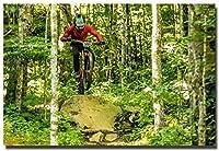 大人のためのパズル1000ピースジグソーパズルマウンテンバイクジャンプエクストリームスポーツポスターアートシルク減圧おもちゃ50x75cm