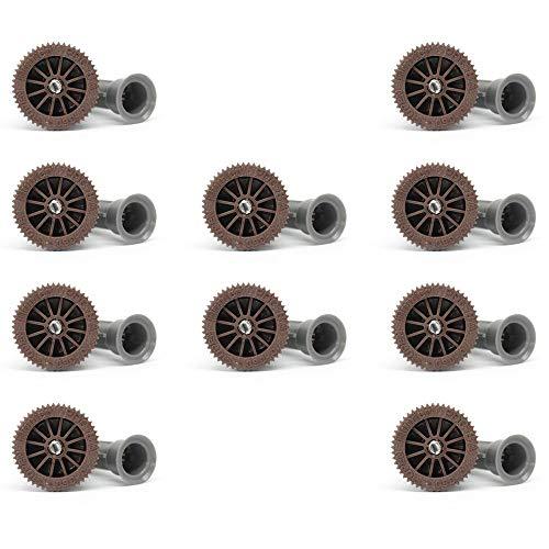 Tobera para difusores de riego. ALCANCE 2,40 METROS. Ángulo de riego REGULABLE 0 a 360º. Rosca hembra compatible con Hunter, Rain Bird, Irritrol, KRain, Signature. Pack 10 BOQUILLAS de alta calidad