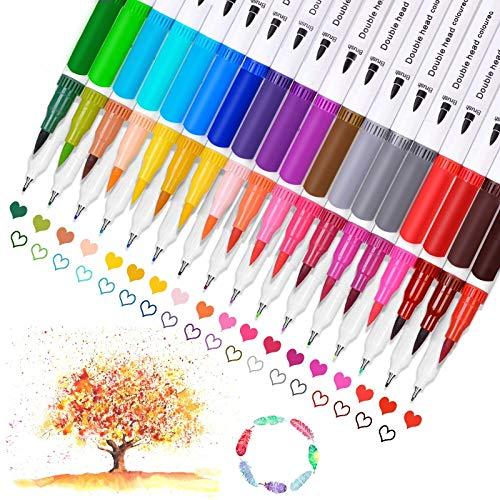 (60% OFF Coupon) Dual Brush Paint Markers 36Pcs $7.32