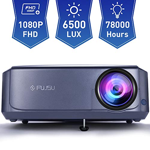 Video Projector,1080P Projectors 78000 Hours Lamp Life, Compatible with Fire TV Stick, PS4, HDMI, VGA, AV and USB for Home Theater, Office Presentations
