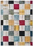 Universal Alfombra geométrica Anouk Check Multicolor, 100% Polipropileno, 160 x 230...