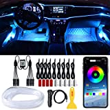 LEDCARE Car LED Strip Lights, RGB Car Interior Lights, 16 Million Colors 9 in 1 with 236 inches Fiber Optic, Ambient Lighting Kits, Sound Active Function and Wireless Bluetooth APP Control