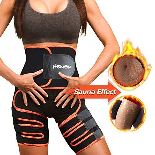 HLOMOM Thigh Trimmer, Waist Trainer, Hip Raiser for Women, 3 in 1 Butt Lifter and Hips, Waist and Thigh Trimmer Training Body Shape (L-XL)