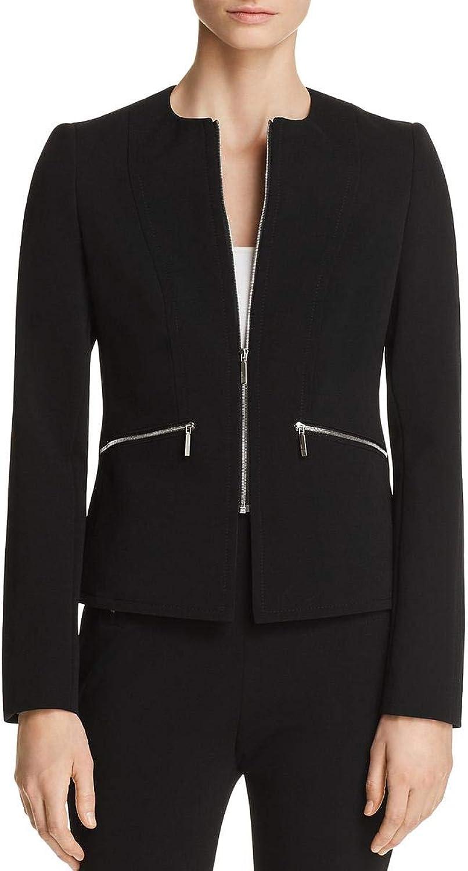Hugo Boss Womens Jblueara Textured Suit Separates Collarless Blazer