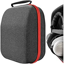 Headphones Case for Sennheiser HD800, HD598, AKG K701, Q701, Beyerdynamic DT880, DT990 and More/Hard Shell Large Carrying Case/Headset Travel Bag (Black Fabric)
