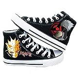 Naruto Uzumaki Naruto Hatake Kakashi Zapatillas de Cosplay Zapatos de Lona Zapatillas, 7 D(M) US Maschio US, Negro