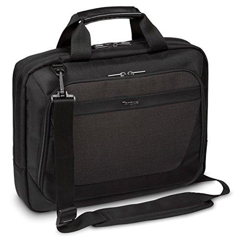 """Targus CitySmart Slimline Laptop Satchel , Briefcase , Messenger Bag Lo mejor para viajeros urbanos y viajeros de negocios, se adapta a portátiles de hasta 14 """"- Negro Gris"""