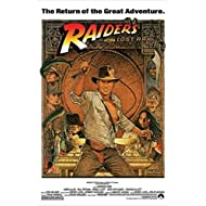 """Indiana Jones - Raiders Of The Lost Ark - Movie Poster (1982 Re-Release) (Size: 24"""" x 36"""")"""