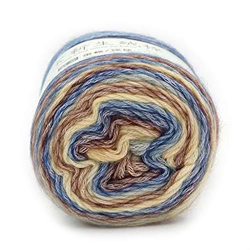 VIccoo 100g regenboog wollen garen DIY hand geweven taart garen hoed sjaal trui verven garen - 13