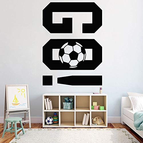 yaofale Football Go Vinyl Wall Decal Fitness Center Play Games Team Sports Stickers muraux Salon Teen Room Outfit